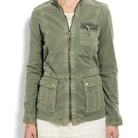 Lucky Brand Caleigh Military Jacket Womens - Olive Night