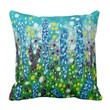 Splattered wilflowers with watercolor & acrylic pillows