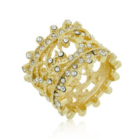 Golden Filigree Eternity Band