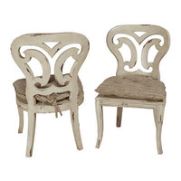 Vintage White Side Chair - Belle Escape