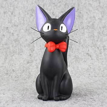 Studio Ghibli Hayao Miyazaki Anime Kiki's Delivery Service Piggy Bank Black JiJi Cat Action Figures Toys Collection Model Toy