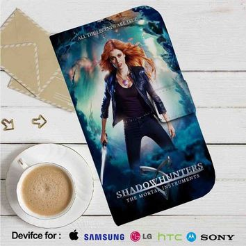 Shadowhunters The Mortal Instruments Movie Leather Wallet iPhone 4/4S 5S/C 6/6S Plus 7| Samsung Galaxy S4 S5 S6 S7 NOTE 3 4 5| LG G2 G3 G4| MOTOROLA MOTO X X2 NEXUS 6| SONY Z3 Z4 MINI| HTC ONE X M7 M8 M9 CASE