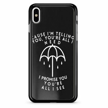 Bring Me The Horizon Lyric iPhone X Case