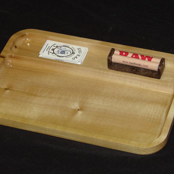 "Marijuana Rolling Tray, 8"" X 12"" Rolling Tray made out Colorado Aspen.  This Tray has plenty of  upper storage for papers and roller"