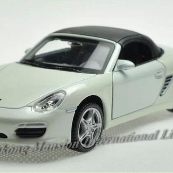 1:32 Scale Diecast Alloy Car Model For ThePorsche Boxster S Collection Pull Back Toys Car With Sound&Light-Yellow/Red/Blue/White