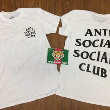 AntiSocial Social Club White W Black Club Tee 2 White/ ASSC / Kanye West Anti Social  Cash Me Outside anti social club i feel like pablo