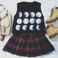 Moonphases crop top