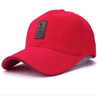 Red Baseball Cap For Women Men Fashion Hat-71