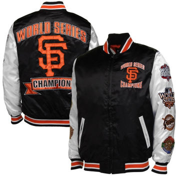 San Francisco Giants Up the Gut Satin Commemorative Jacket - Black