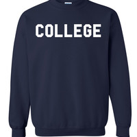 Animal House 'College' Crew Neck Sweatshirt