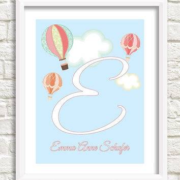 Personalized Girl Nursery Art