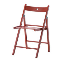 TERJE Folding chair - red  - IKEA