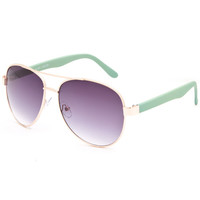 Full Tilt  Aviator Sunglasses Seafoam One Size For Women 25719852401