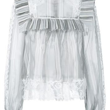 Silk Frill Collar Blouse - ZIMMERMANN