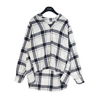 High Low Checkered Shirt