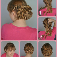 Clip in flower up-do enhancer hair art: