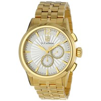 S. Coifman SC0271 Men's Metallic Silver Dial Yellow Gold Steel Bracelet Watch
