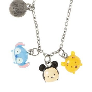 Licensed cool Disney Tsum Tsum Mini Charm Lilo & Stitch Mickey Mouse Pooh Pendant Necklace NEW