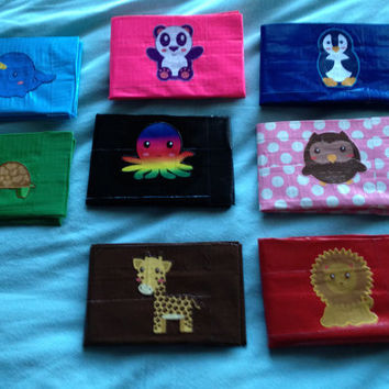 Animal Duct Tape Wallets
