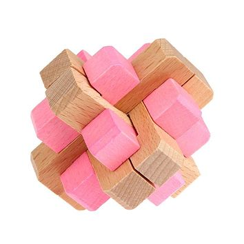 3D Puzzle Baby Wooden Toys Lock Toys for Children Adult Kids Brain Teaser Cube Intellectual Toys Gift