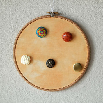 Creamsicle Jewelry Display For Necklaces And Bracelets With Multi Color Buttons