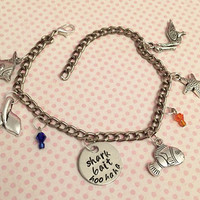 Shark Bait Charm Bracelet - Fairytale Jewelry - Once Upon A Time Jewelry - Finding Nemo Inspired Jewelry - Just Keep Swimming Jewelry
