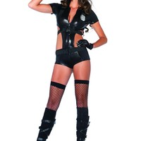 Black 2 Pc. Sexy Officer Booty On Duty Costume