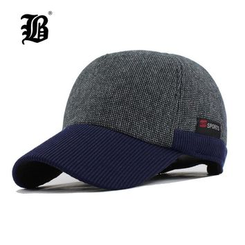 Trendy Winter Jacket [FLB] Warm Winter Thickened Baseball Cap Men'S Cotton Hat Snapback Winter Hats Ear Flaps For Men Women Hat  F240 AT_92_12