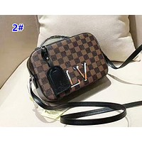 Louis Vuitton Classic color matching checkerboard camera bag small square bag 2#