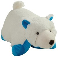 "My Pillow Pets Blue Bottom Wintry Polar Bear Plush, 18""/Large"
