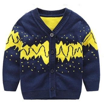 Cotton Baby Boys Sweater Knitted V-neck Infant Cardigan Tee Toddler Boys Sweater Autumn Winter  Baby Clothes Baby Boys Clothing