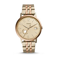 Vintage Muse Date Watch, Gold