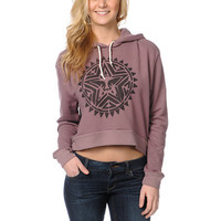 Obey Aztec Stencil Mauve Dolman Pullover Hoodie