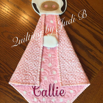 Maddy's Lovie Baby Cow -  Security Blanket