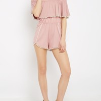 Dusty Pink Super Soft Off Shoulder Romper | Jumpsuits & Rompers | rue21