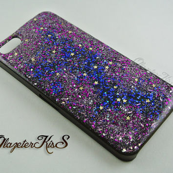 Space Galaxy Case,Stars,Real Glitter,Sparkle,Bling,iPhone 5/5s case,iPhone 6 Case,iPhone 6 Plus,Galaxy S4,Galaxy S5,Note 2,Note 3,Note 4