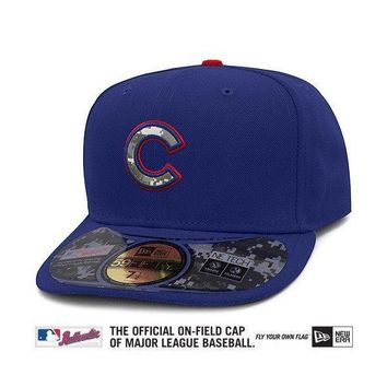 Chicago Cubs Authentic 2012 Stars & Stripes 59FIFTY On-Field Cap