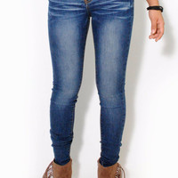 (alu) Machine Medium stone wash super stretch skinny jeans