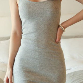 Casual Solid Color Cami Dress