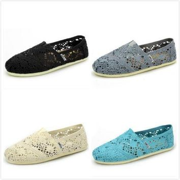 Toms Women's Classic Natural Morocco Crochet Casual Shoes
