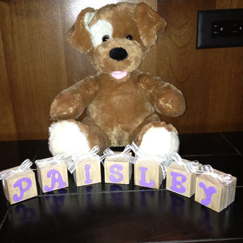 Personalized Wooden Baby Blocks