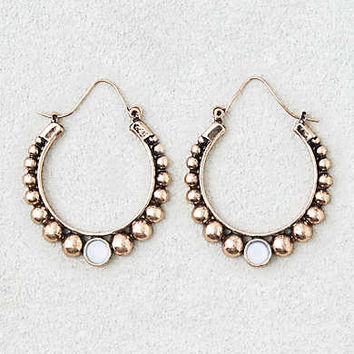 AEO Gold Ball Detail Hoops , Gold