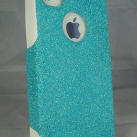 iPhone 4/4S Otterbox Glitter Cute Sparkly Case Commuter Series for Apple iPhone 4/4S Frost Blue/White