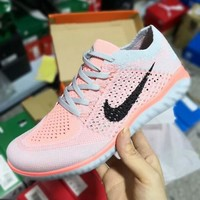 Nike Free Flyknit 5.0 Barefoot 5.0 Series Breathable Lightweight Running Shoes