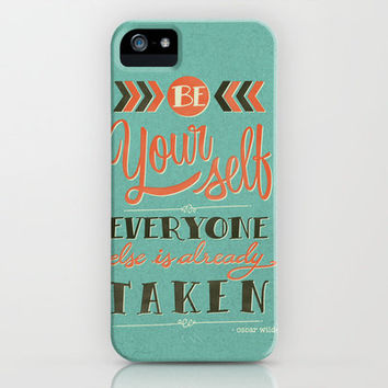 Be yourself everyone else is already taken iPhone Case by Laura Graves | Society6