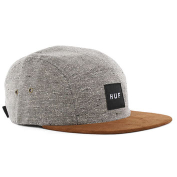 Huf Tweed Volley 5-Panel Cap - Grey at Urban Industry