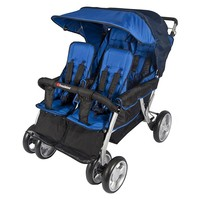 Foundations LX4 Dual Canopy Stroller (Blue)
