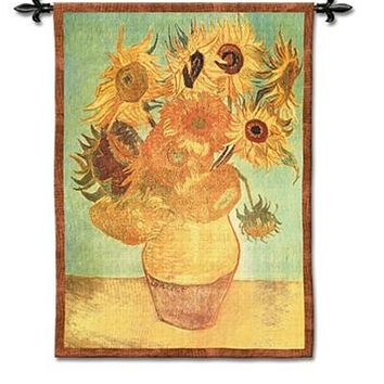 Van Gogh's Sunflowers Tapestry - 6823
