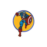 Captain America Running Embroidered Iron-On Patch