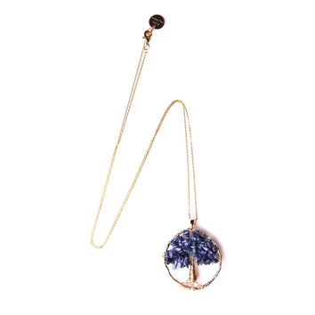 Tree Of Life Blue Lapis Necklace